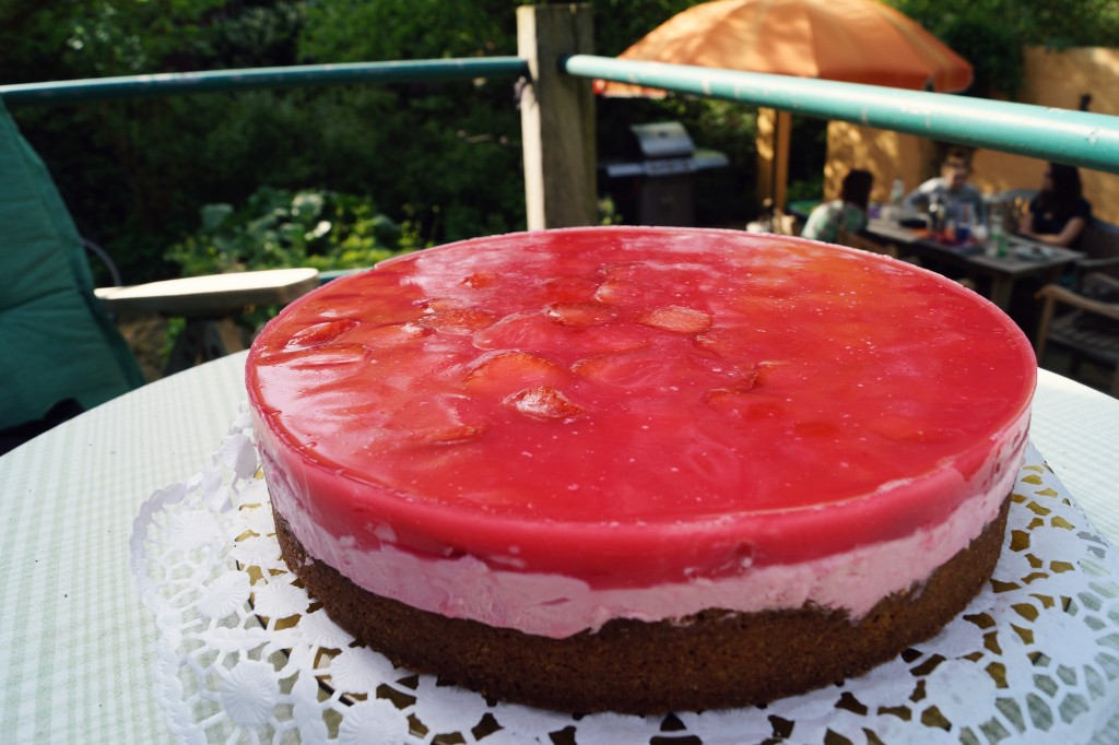 Erdbeer Quark Torte Sommerliches Lacheln