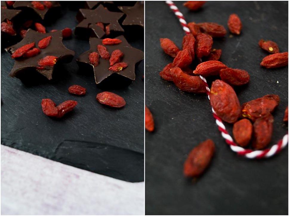 chocolate snack mit goji beeren healthy love antonella 39 s backblog. Black Bedroom Furniture Sets. Home Design Ideas