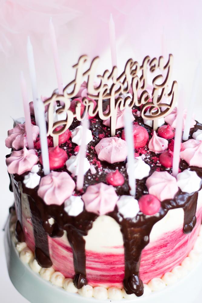 Mädchentraum  Himbeer Schokoladen Torte
