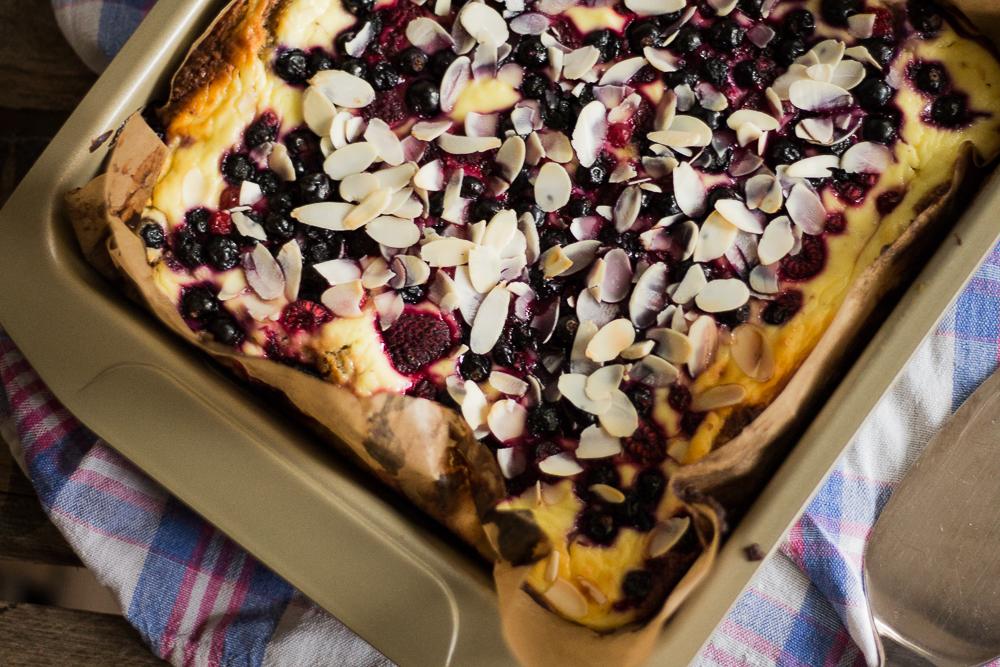 Beeren Cheesecake  Etwas Frucht Oben Drauf