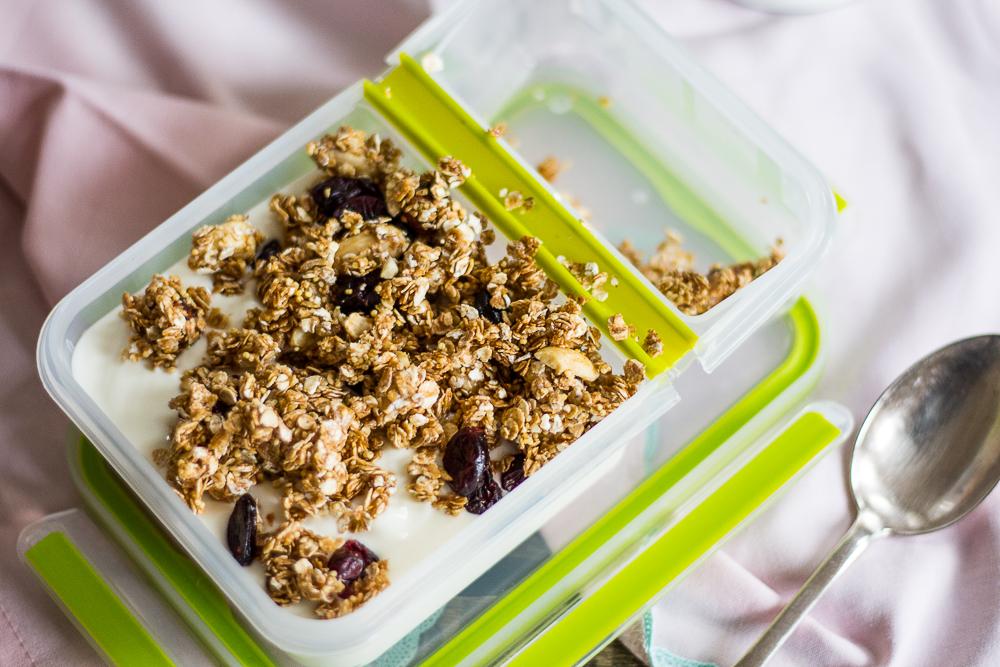 Hafer Kokos Cranberry Granola  Frühstück To Go