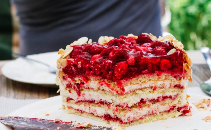 Himbeer-Herz-Torte